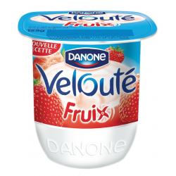 """Yaourt velouté fruix à la fraise """"Danone"""""""